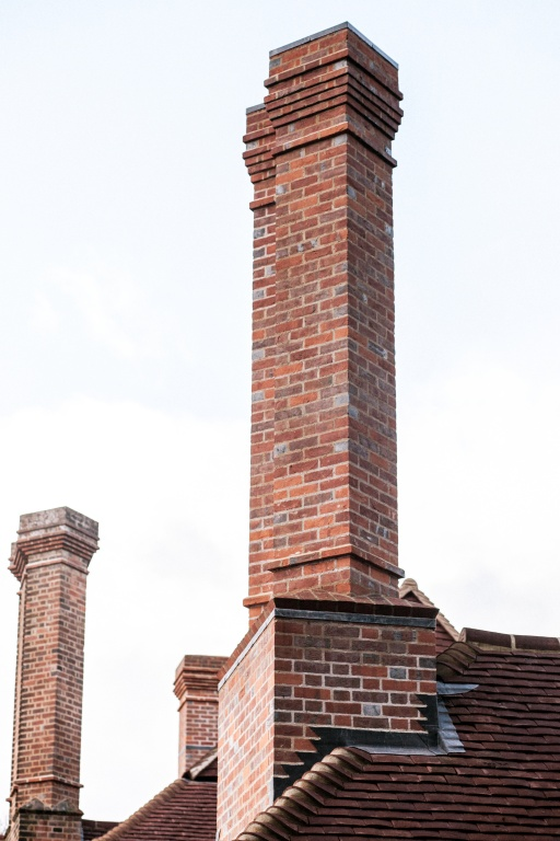 Large Arts and Craft house chimney stacks