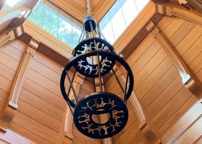 Decorative Ironwork Chandelier