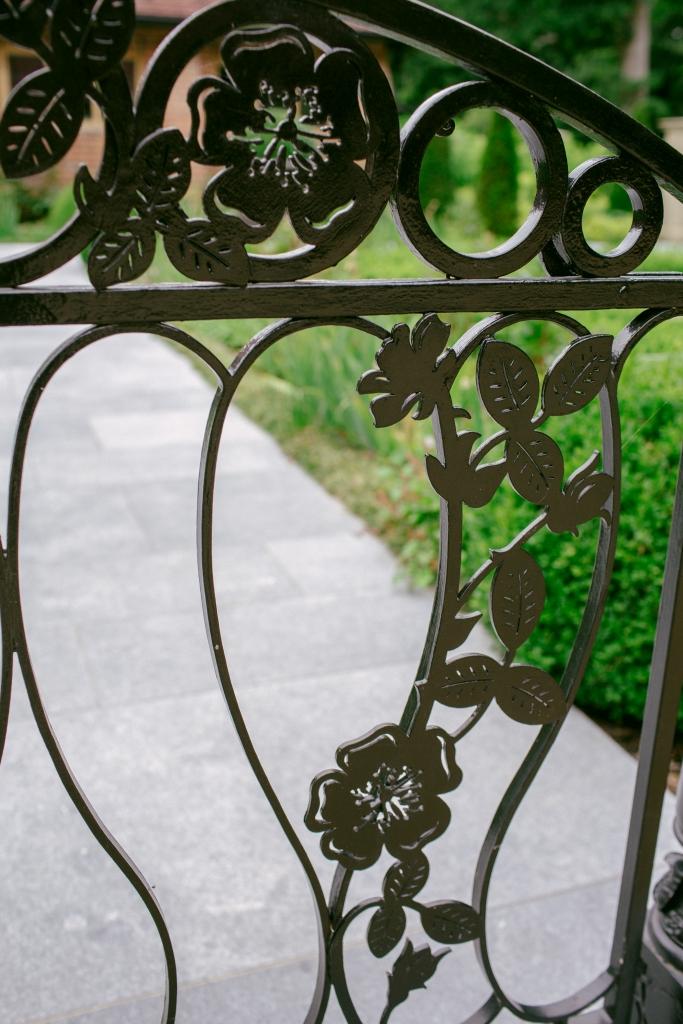 Bespoke metal cut out garden gate