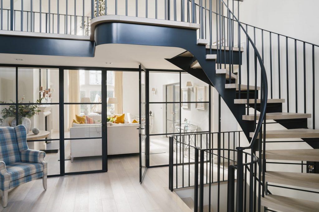 Contemporary Steel and Oak Staircase