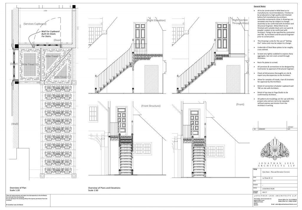 Bespoke metal staircase design
