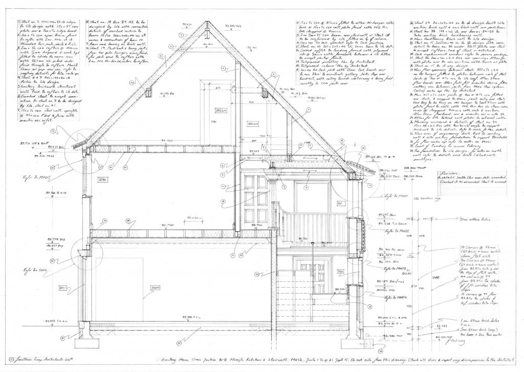 New country house Architect hand drawing