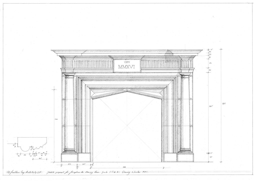 Classical Stone Carved Fireplace Surround