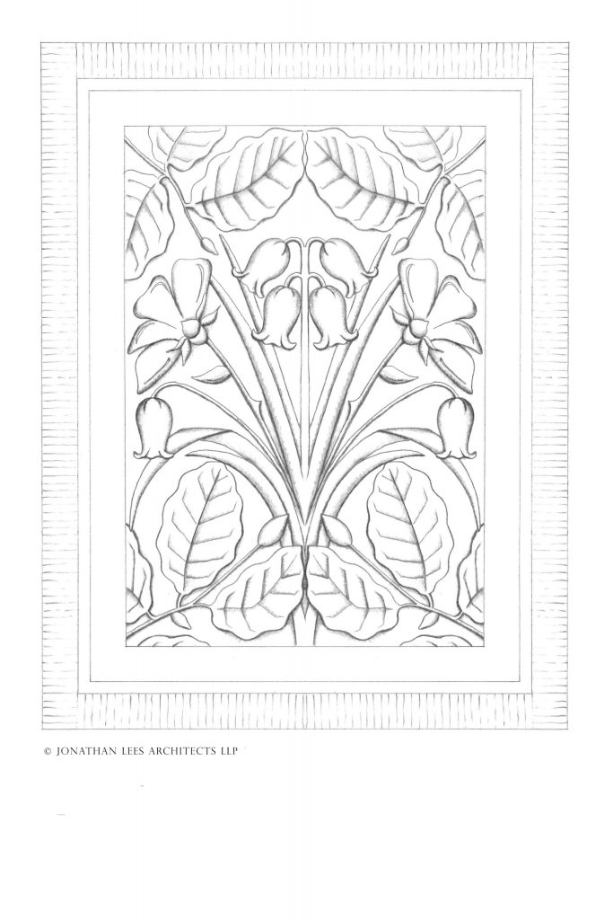 Arts and Crafts stone carving design