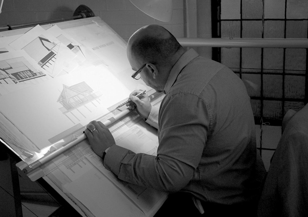 Classical Architect at the drawing board