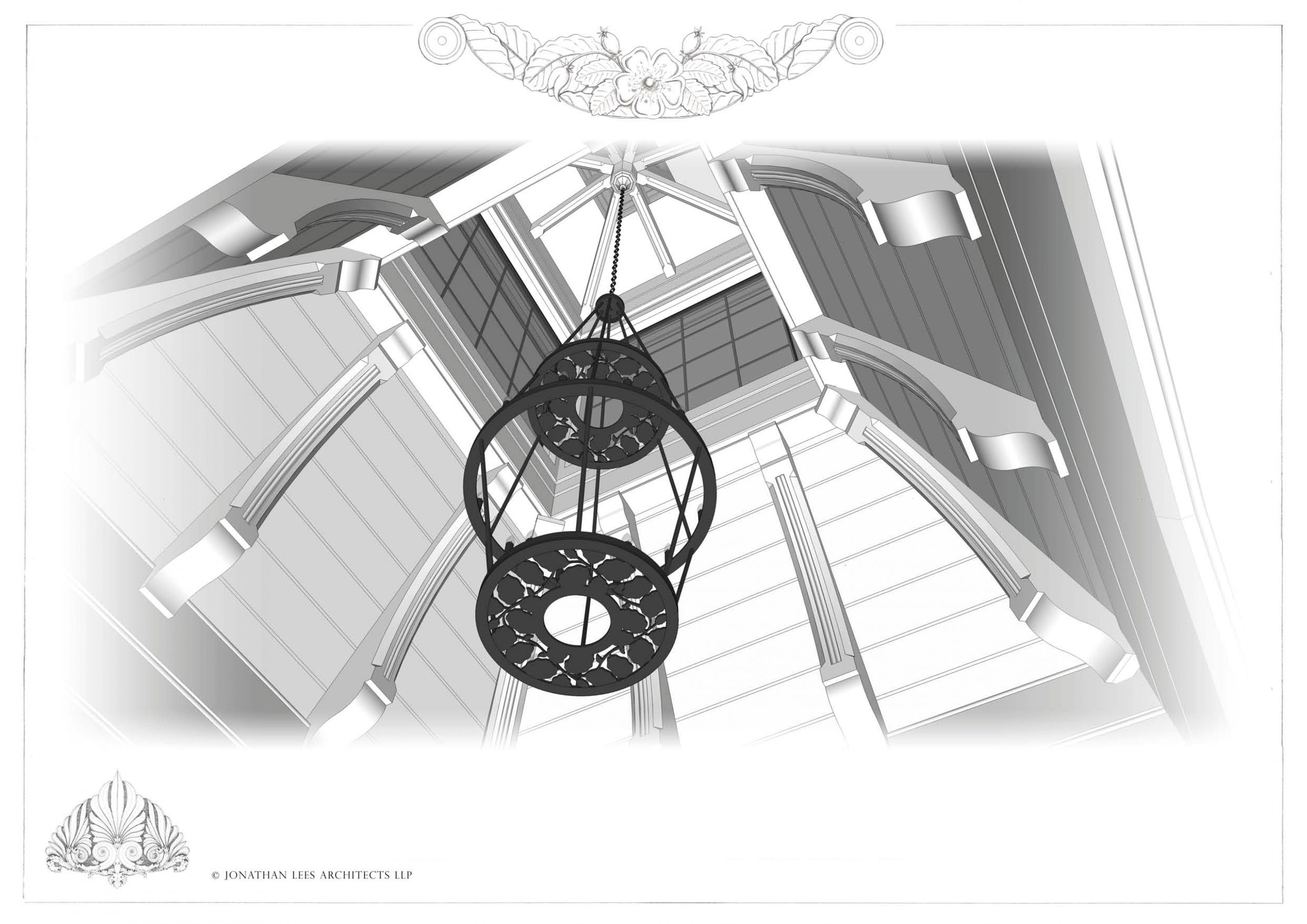 Design for feature exposed oak roof and skylight