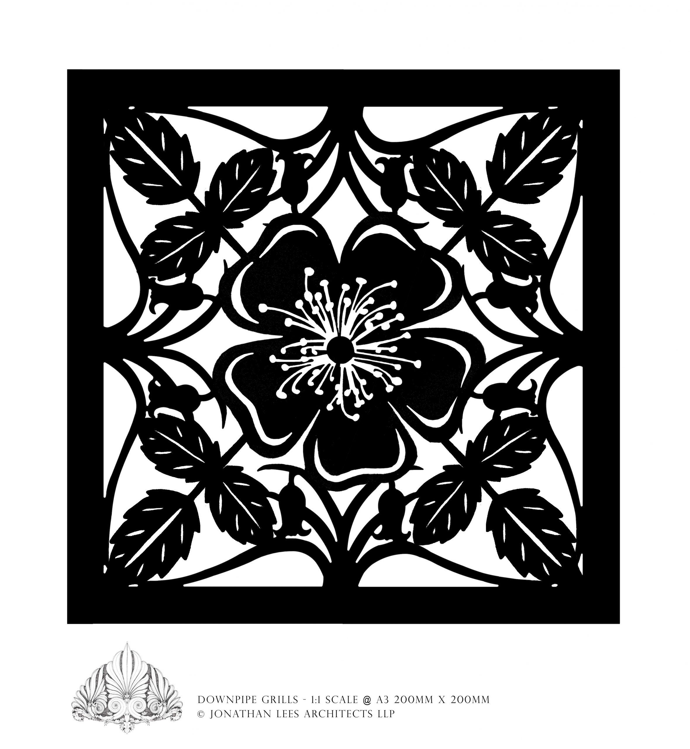Intricate brass inlay plate design for garden