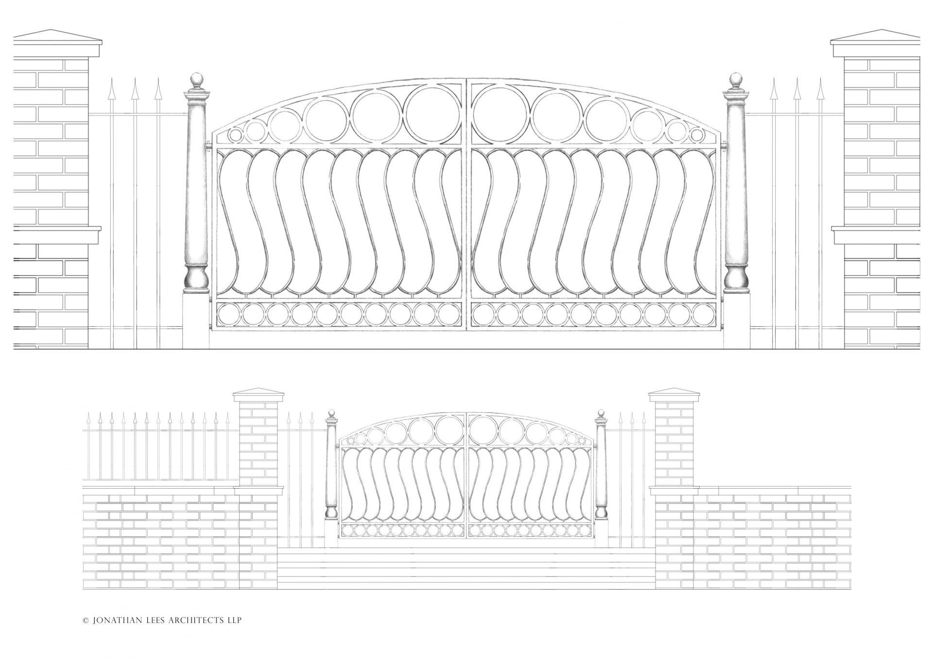 Bespoke double garden gate in metal