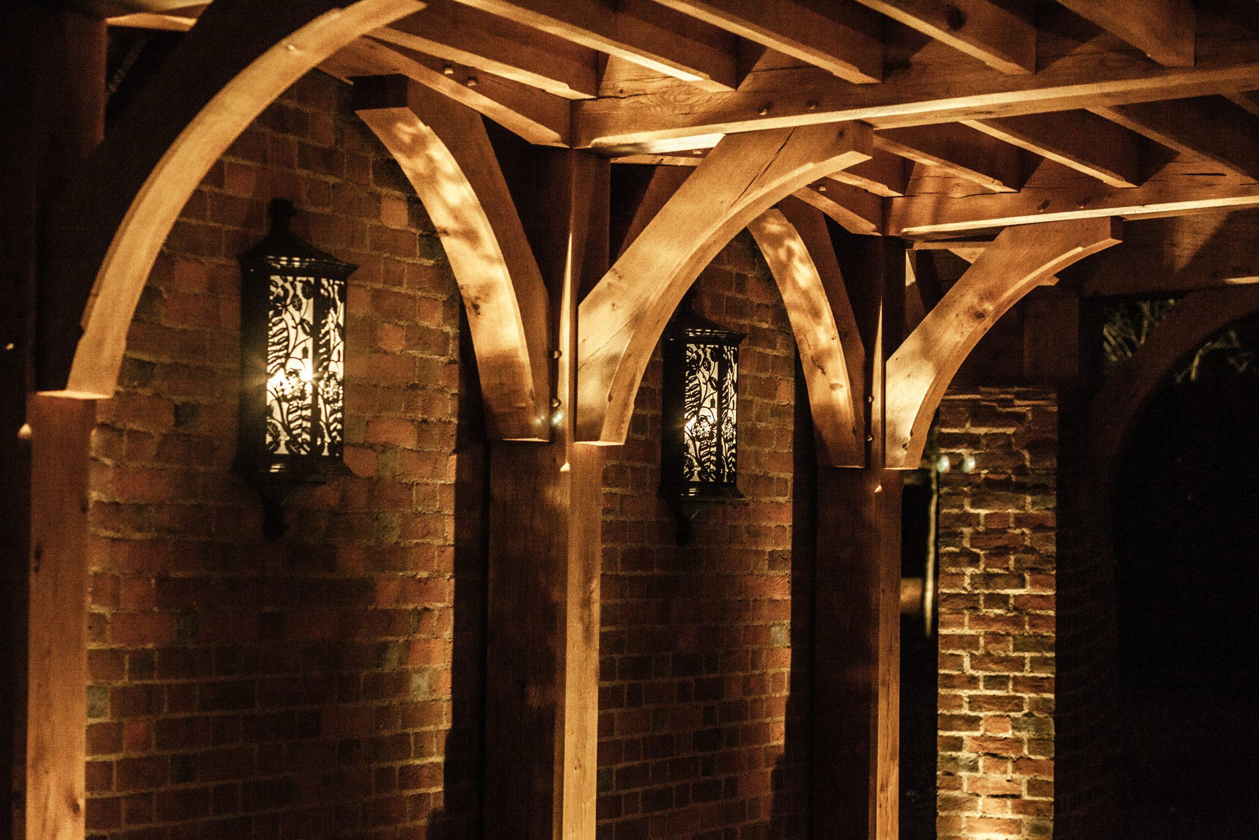 Bronze decorative garden wall lights