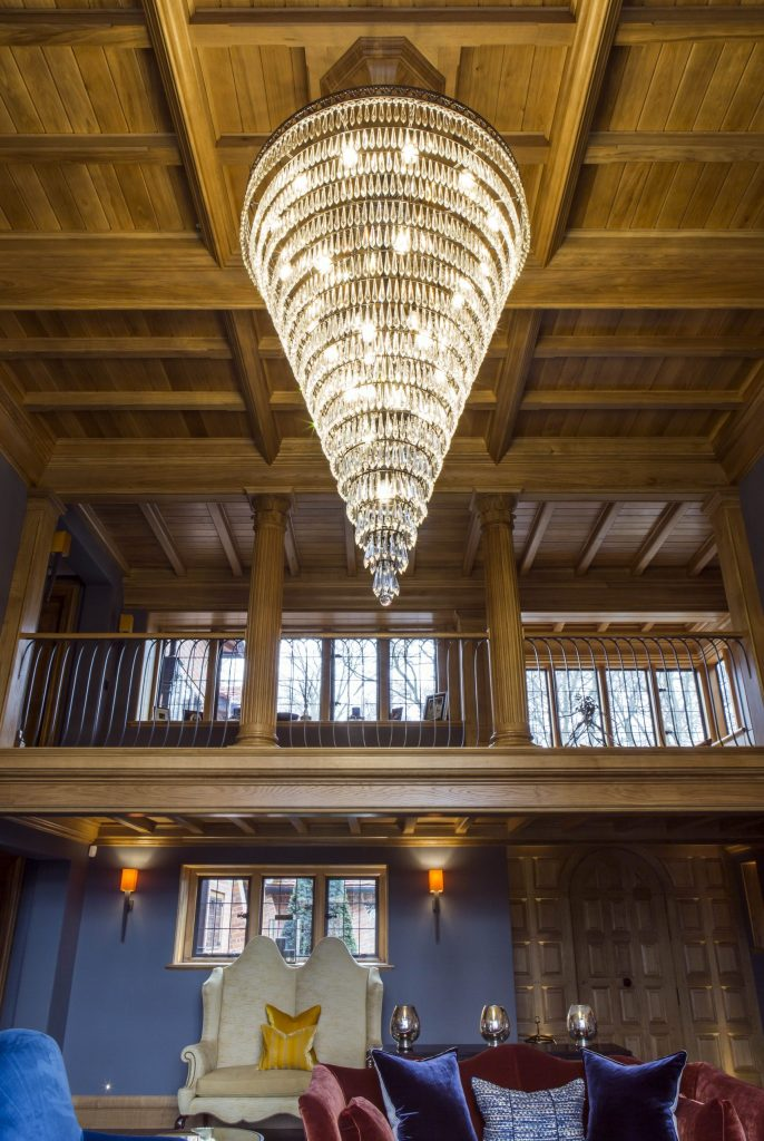 Feature Oak ceiling in new country house