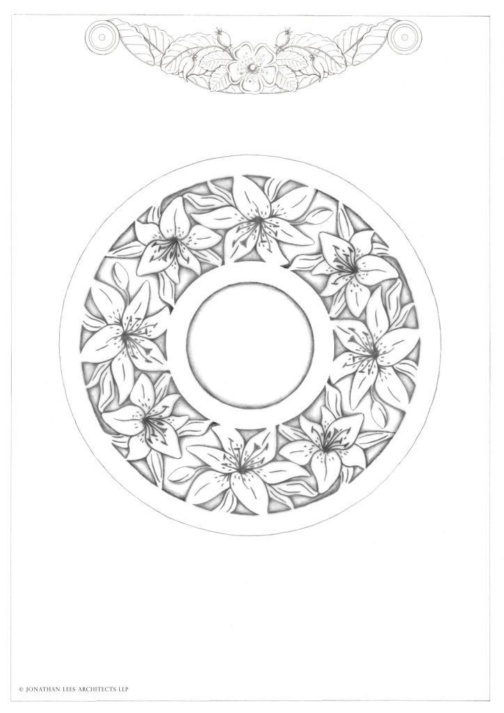 Garden brass inlay design