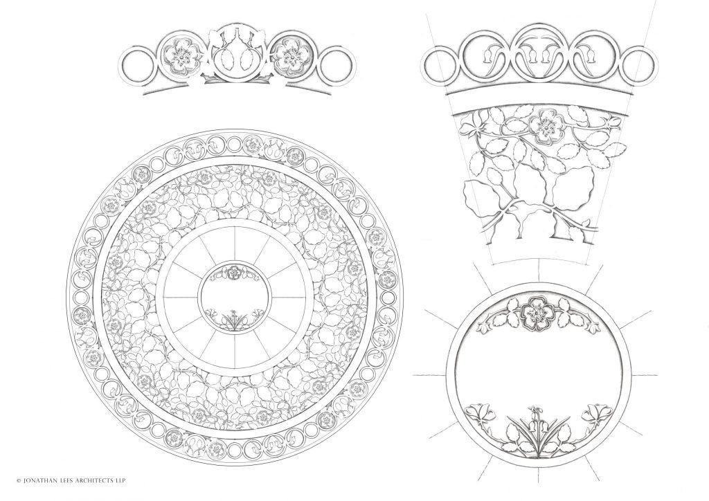 Brass Inlay Plate for Courtyard Garden
