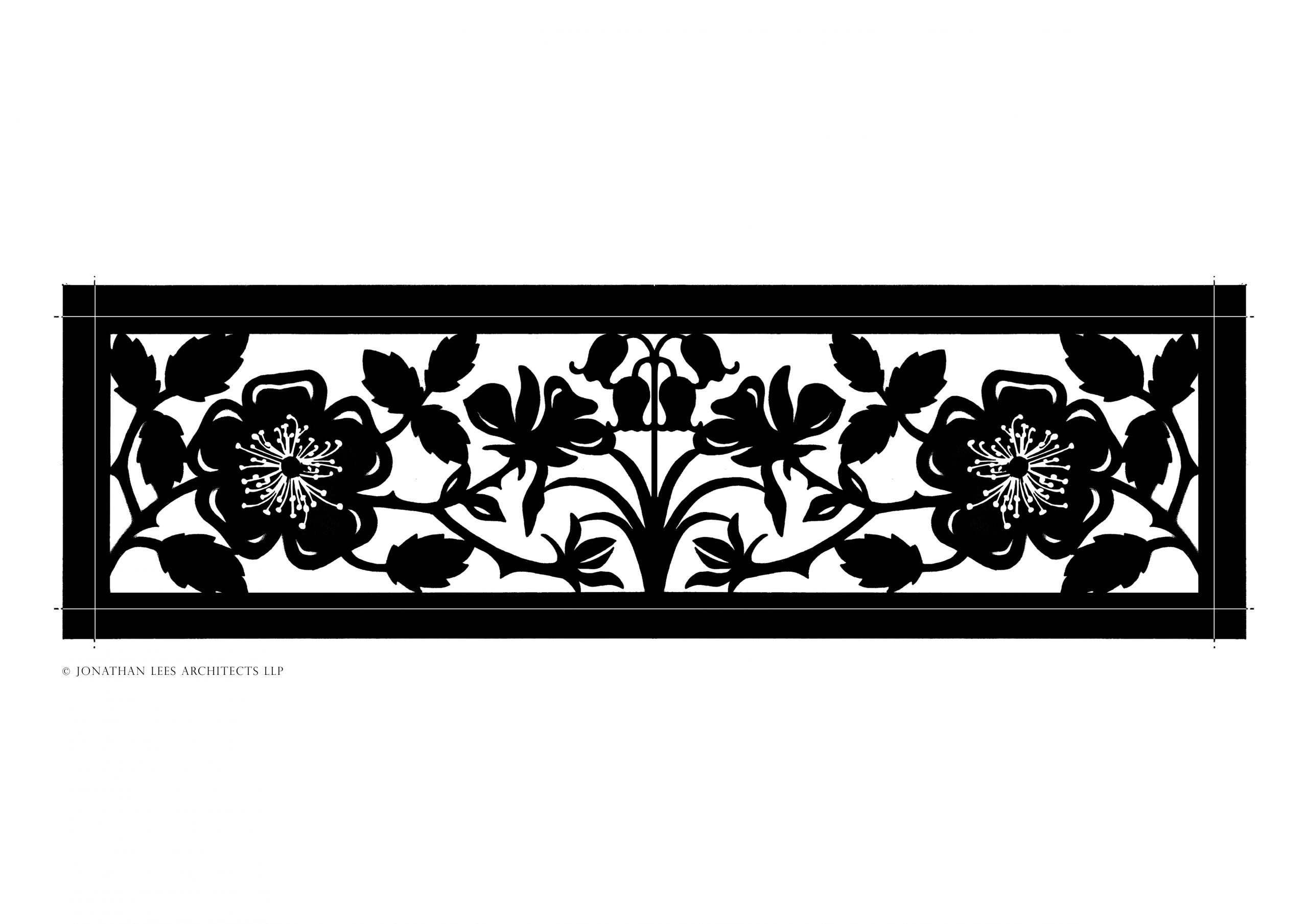 Decorative metal cut out design for heating vents