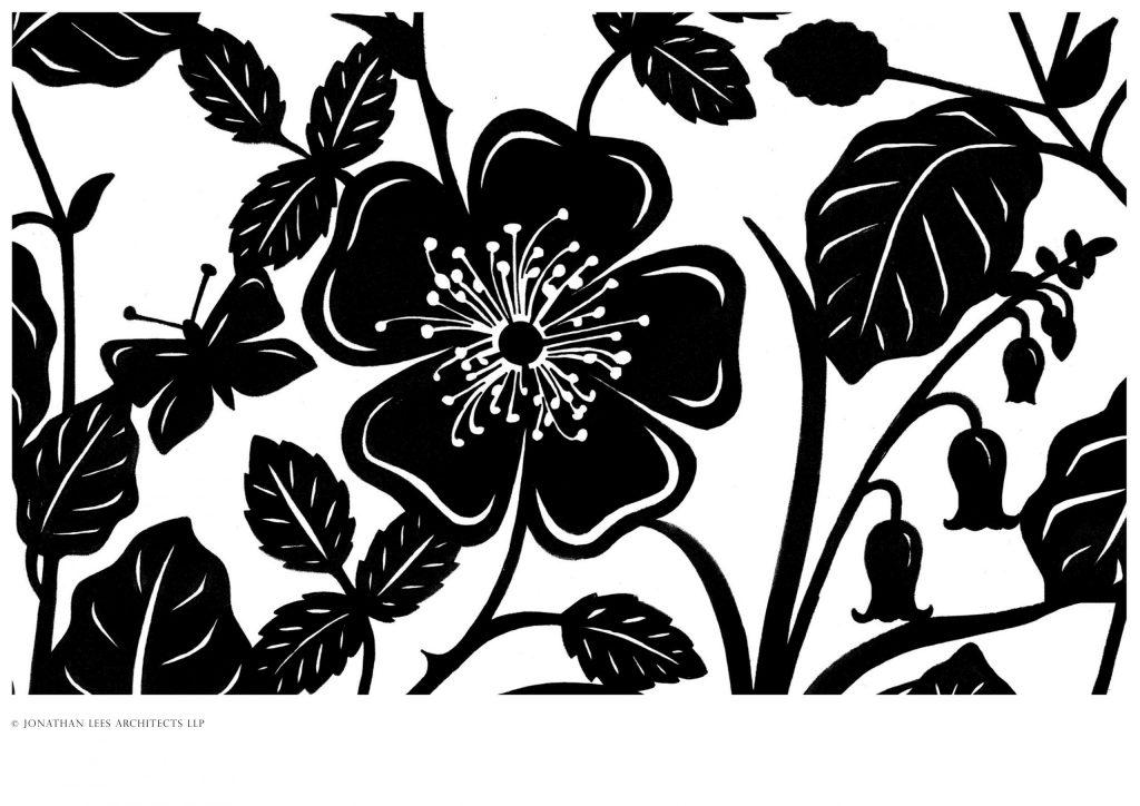 Design for metal garden trellis