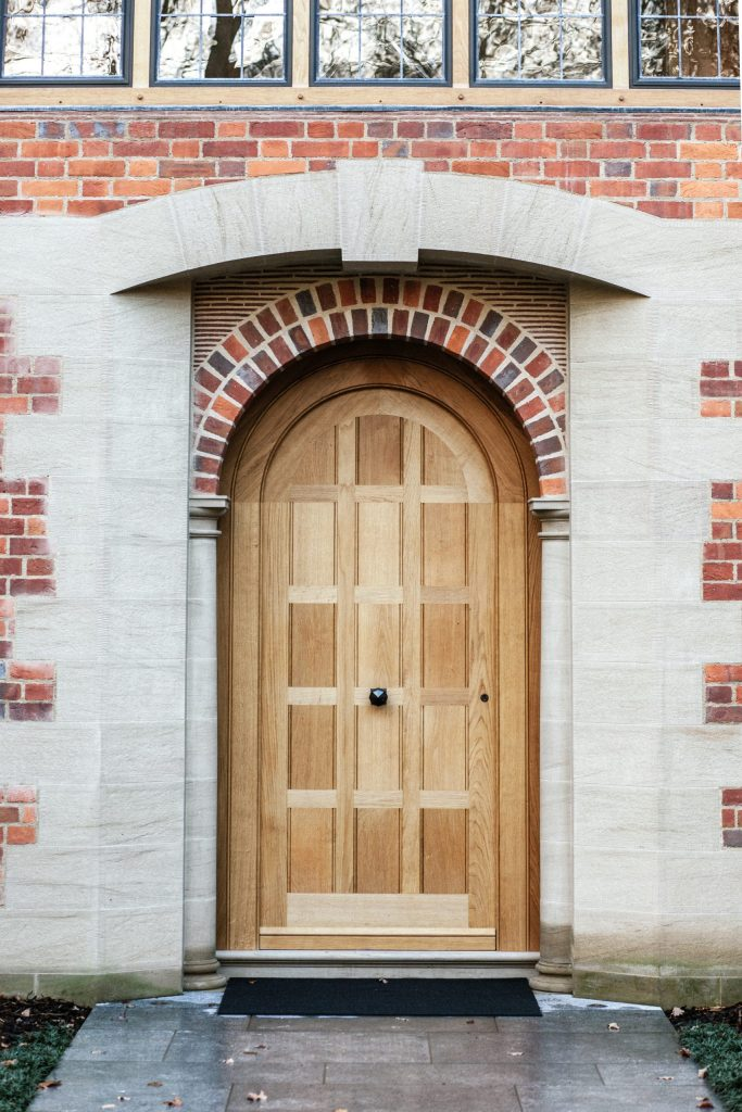 Arts and Crafts Oak Front Door to country mansion