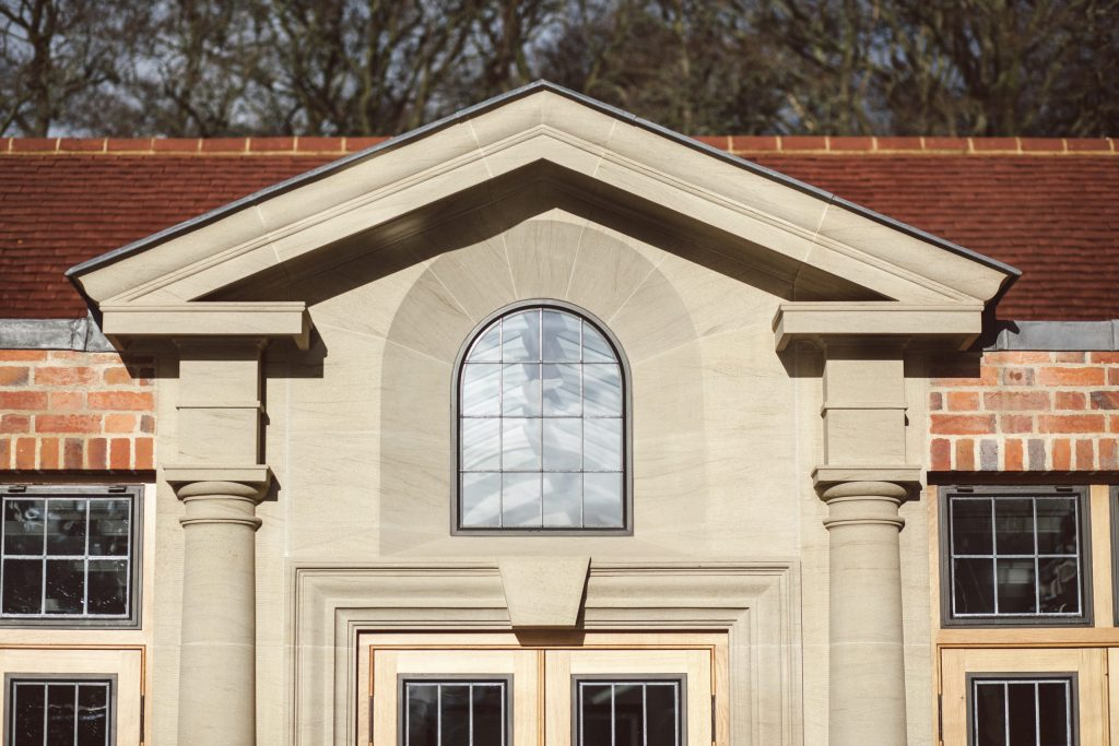 Classical stone elevation on house