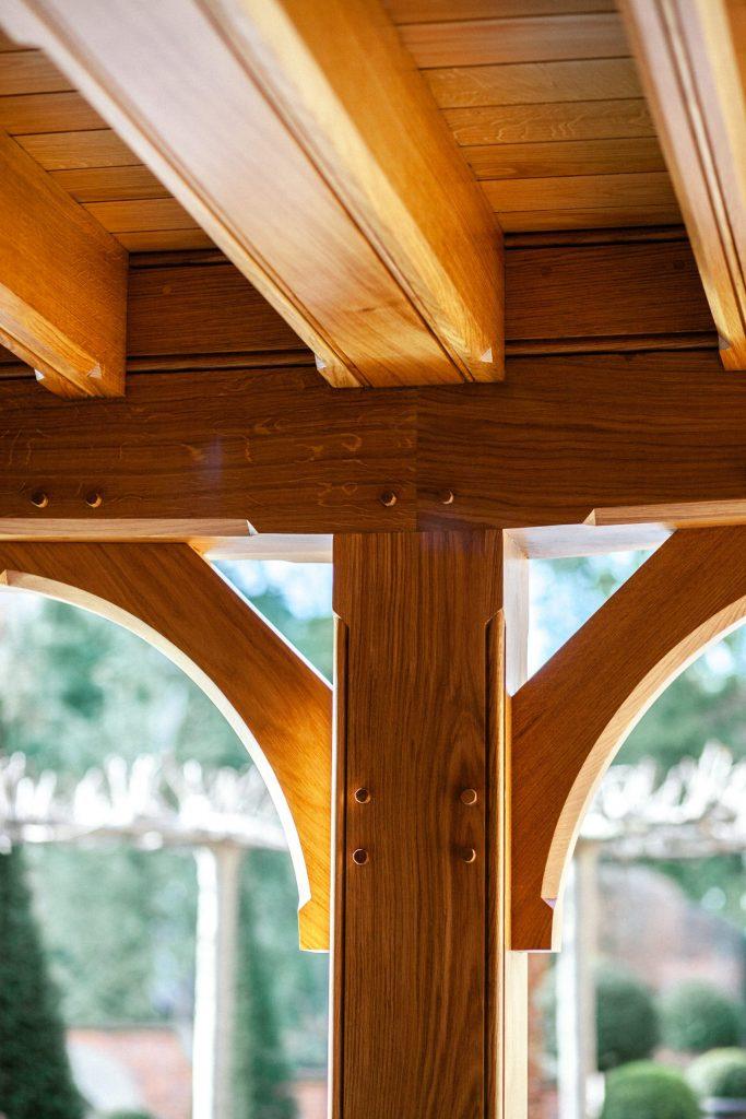 Traditional Oak frame garden structure