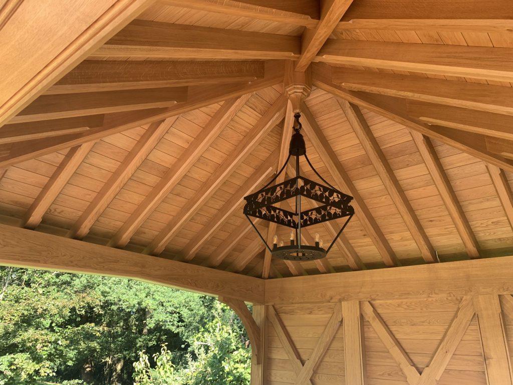 Garden pavilion metal chandelier ceiling light