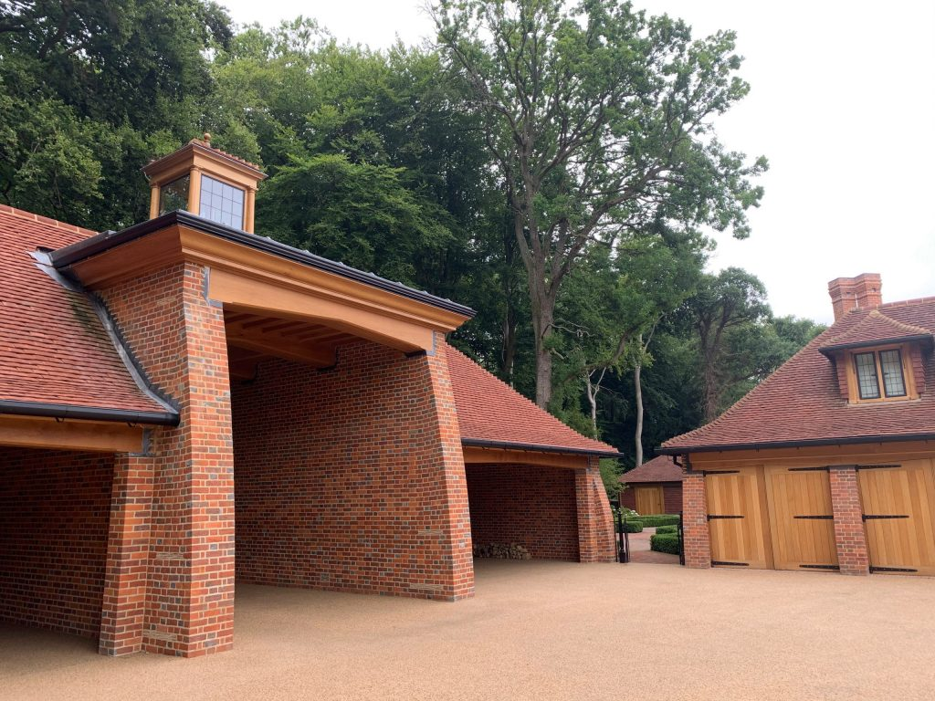 Entrance courtyard to country house estate