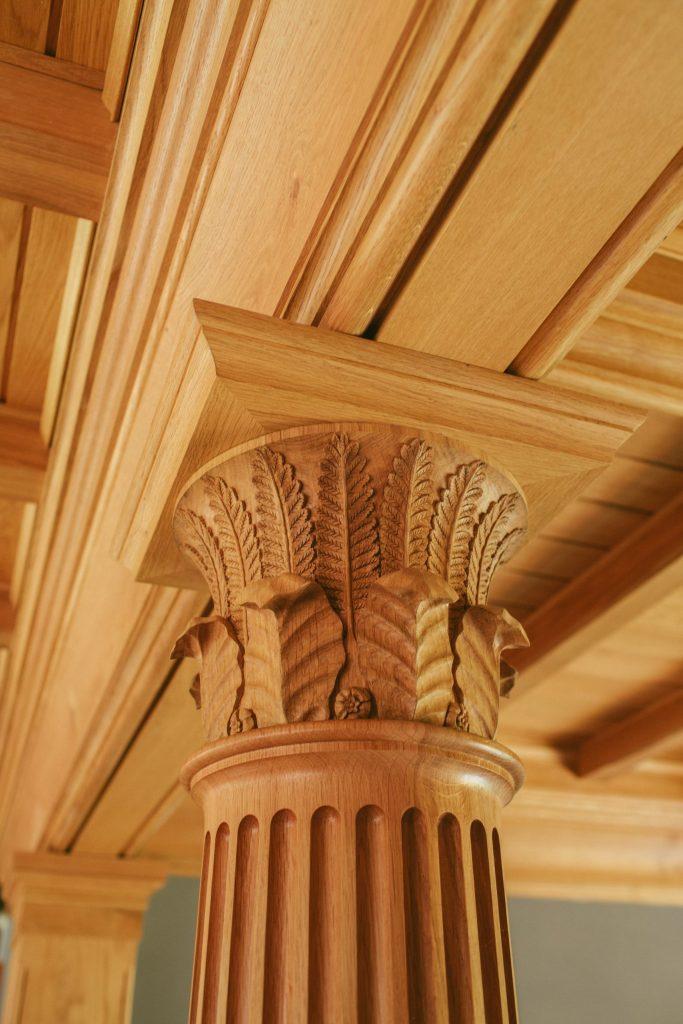 Decorative Oak classical column