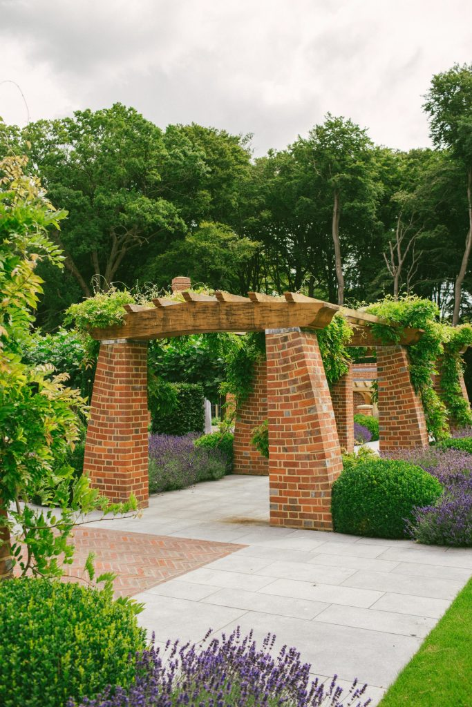 Arts and Crafts style garden structure