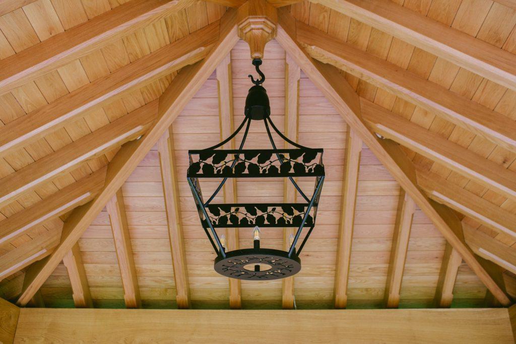 Bespoke outdoor iron chandelier