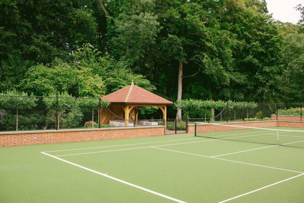 Tennis court and pavilion architecture and design