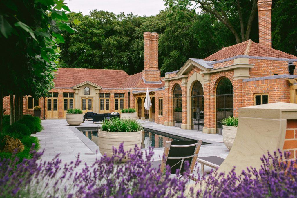 Classical brick garden Architecture