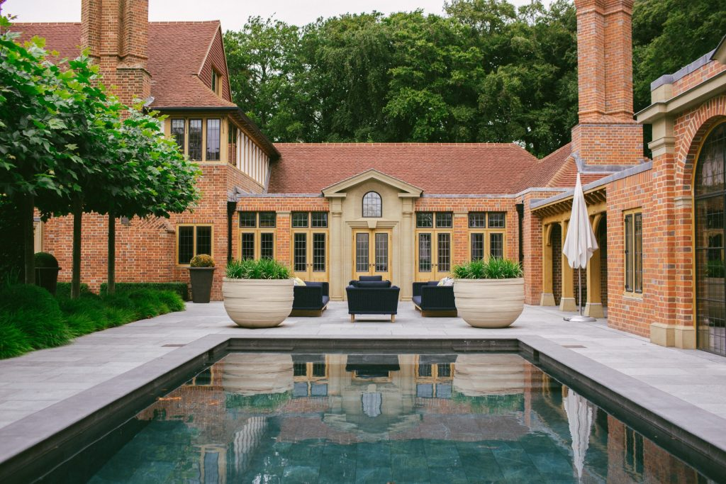 Country house swimming pool and orangery