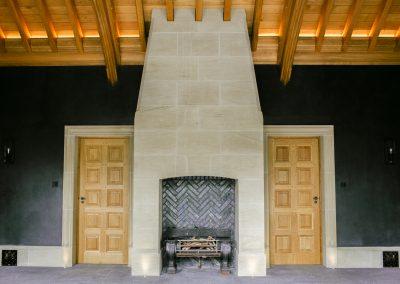 Summerhouse Stone Fireplace