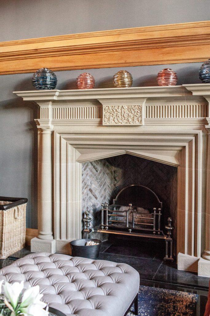Main Hall Stone Fireplace