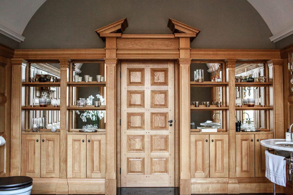 Bespoke Bathroom Cabinet Oak Panelling