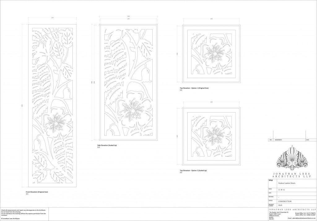 Arts and Crafts garden Light design