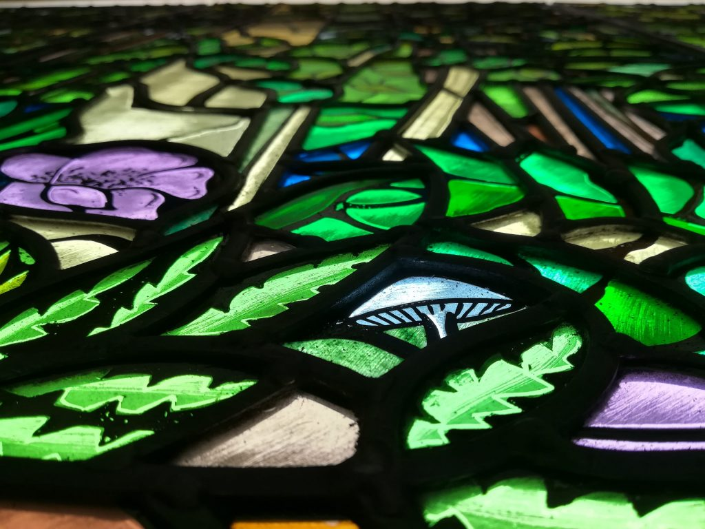 Arts and Crafts traditional stained glass window