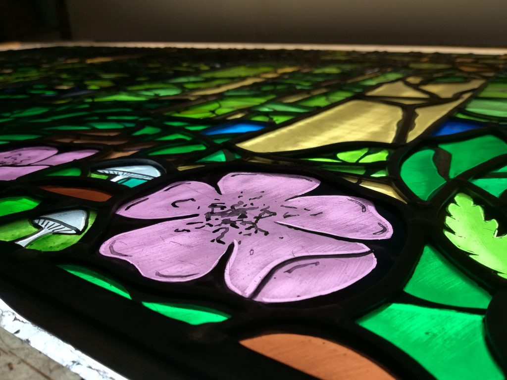 Stained Glass window flowers