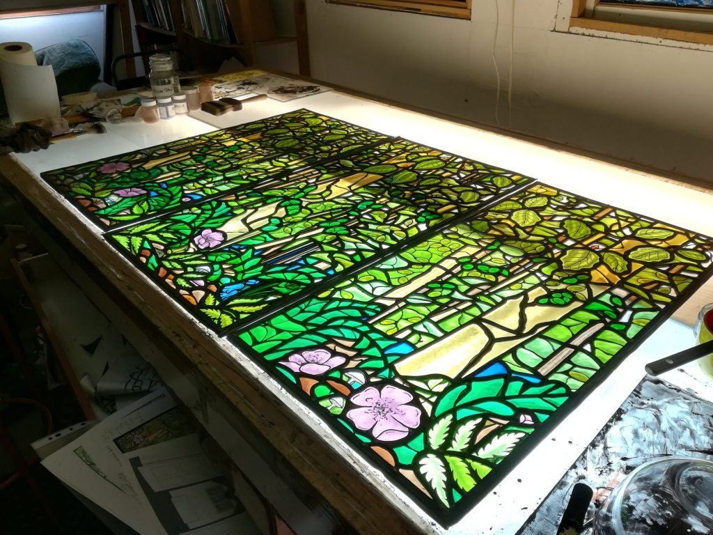 Bespoke country house stained glass window