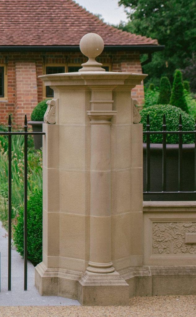 Classical Architecture stone gate post