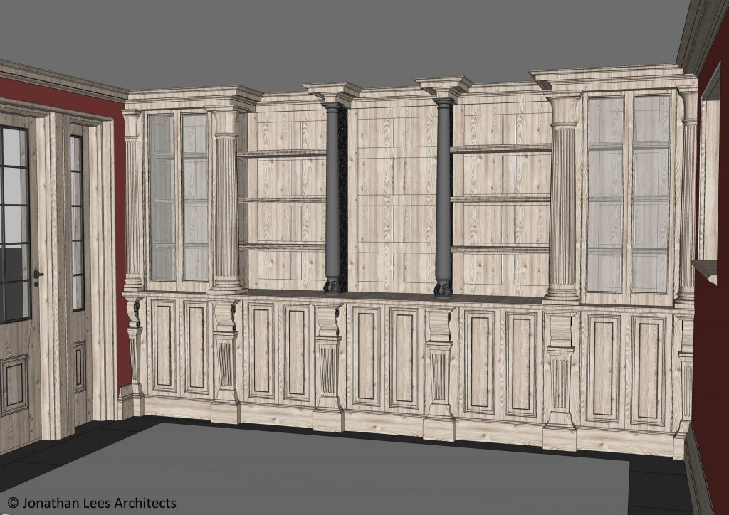Computer design for classical library cabinet