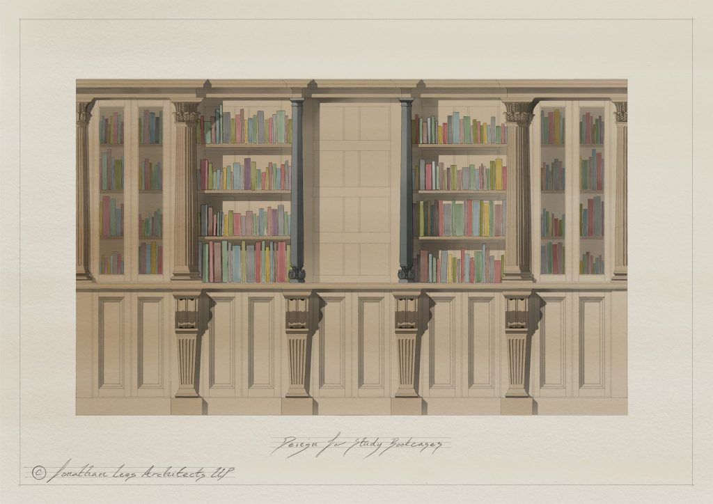 Classical Oak cabinet design by Architect
