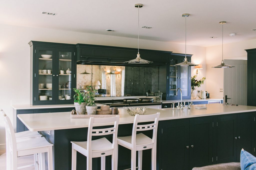 Classic contemporary kitchen design in new build house