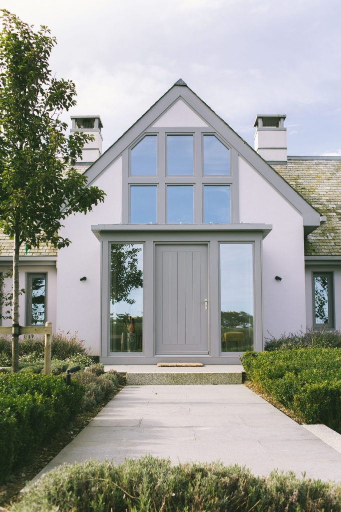 Classic contemporary house and garden beside the Cornish coast