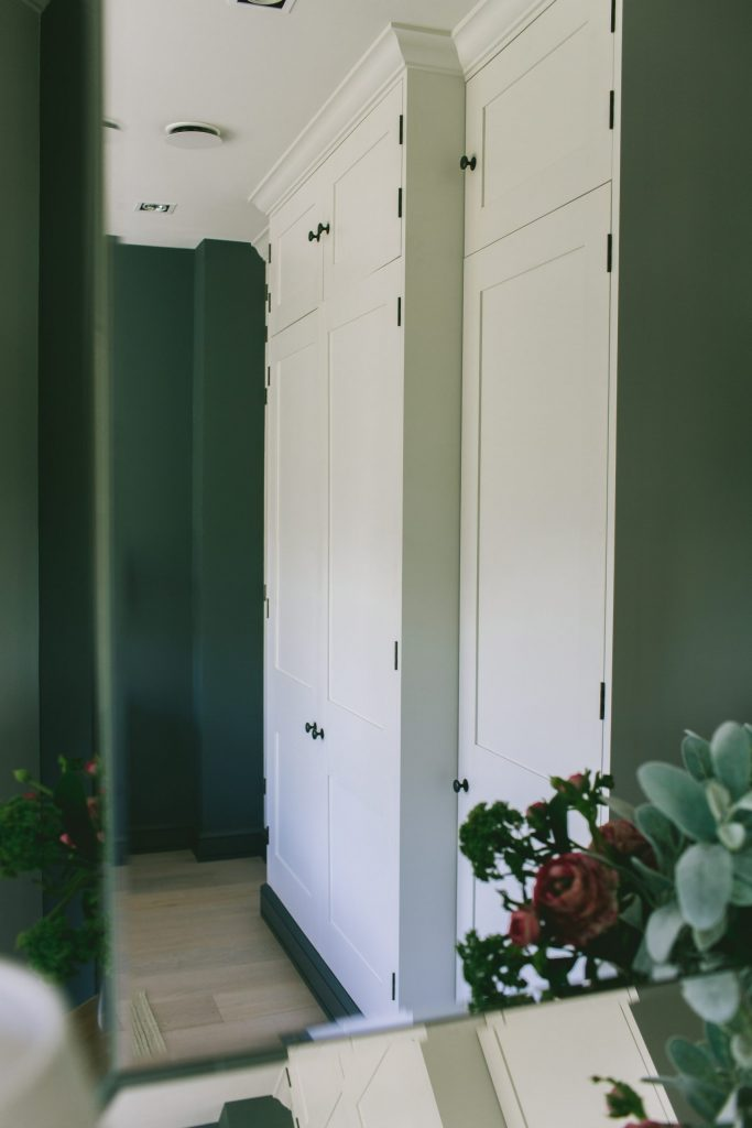 Bespoke joinery made wardrobes designed by Architect