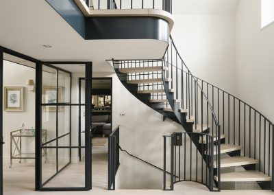 Metal and Oak Staircase