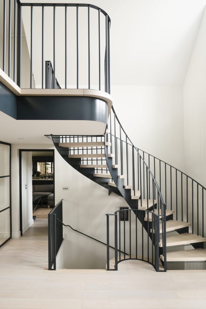 New country house contemporary steel staircase