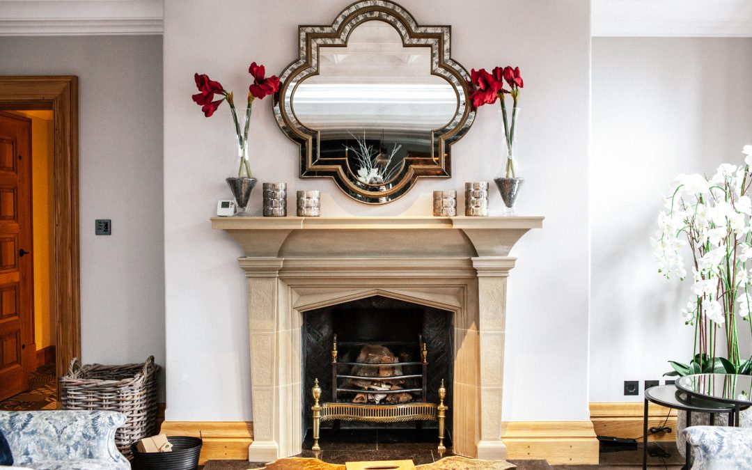 Classical Stone Fireplace