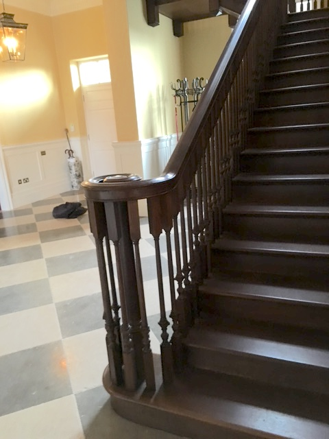 Large country house staircase and hall