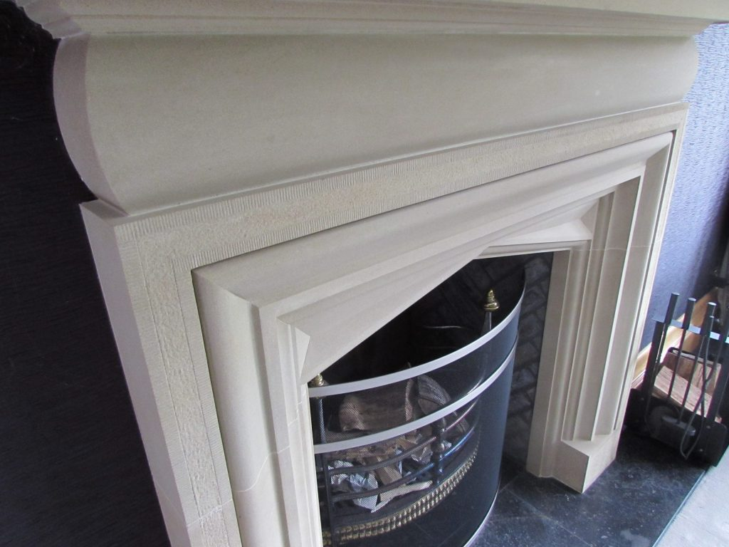 Country house traditional stone fireplace