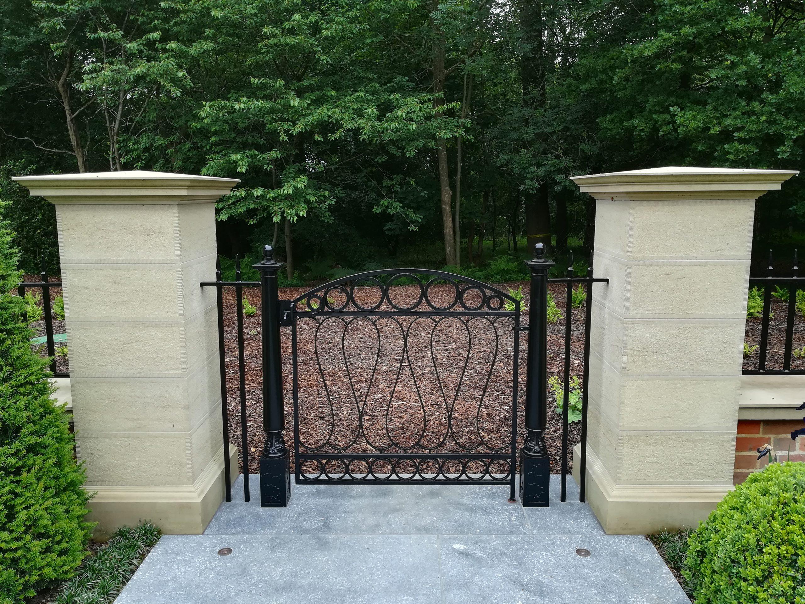 Arts and Crafts garden metal gate