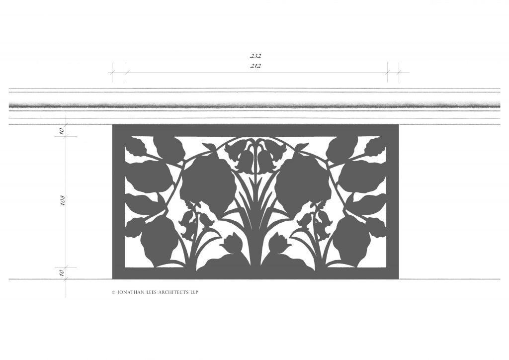 Bespoke powder coated metal vent cover