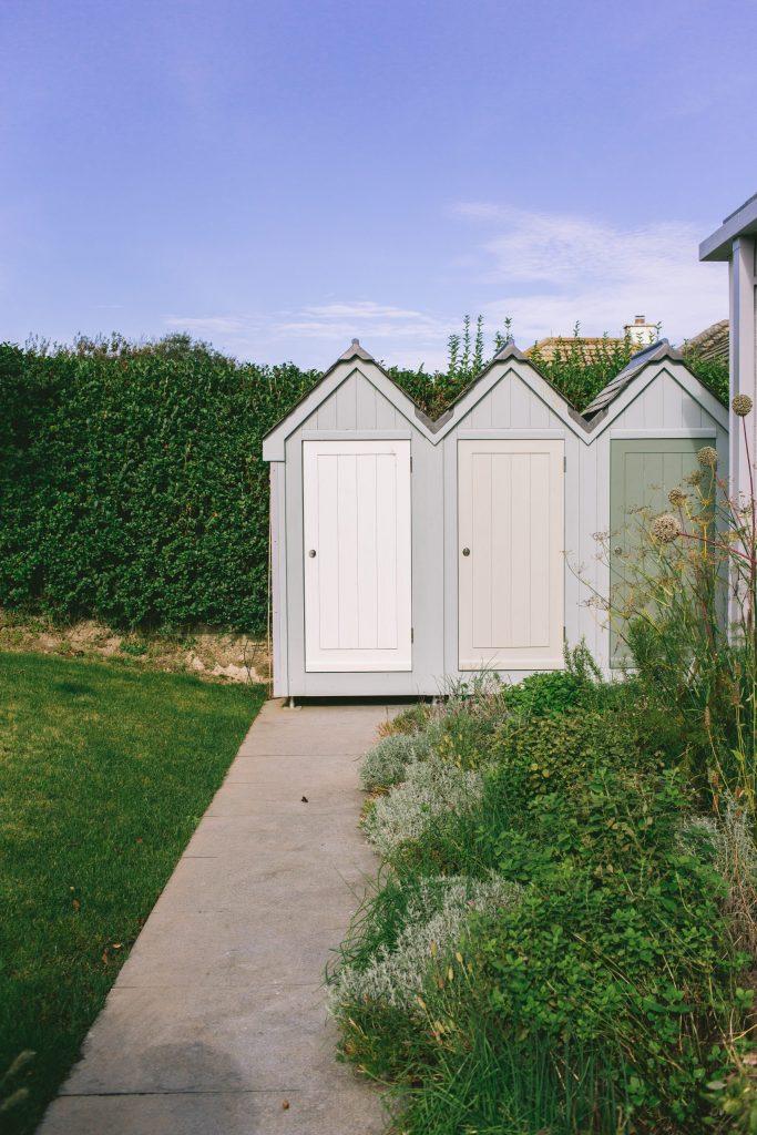 Seaside beach hut style storage garden sheds